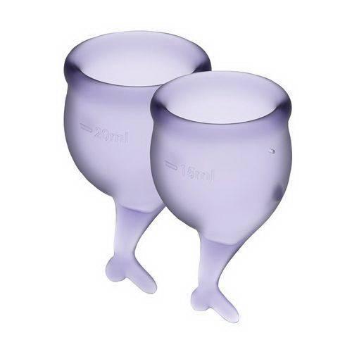Набор менструальных чаш Satisfyer Feel Secure lila 15 и 20 мл