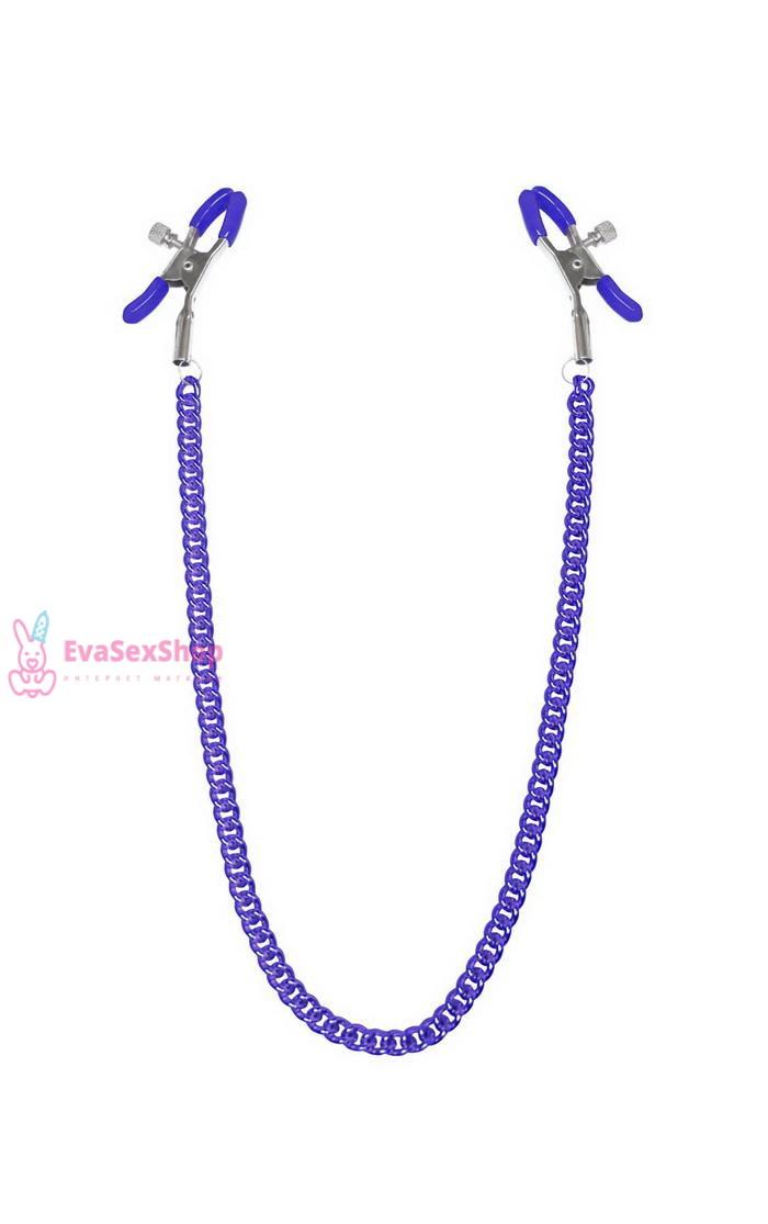 Зажимы для сосков с цепочкой Feral Feelings Nipple clamps Classic, фиолетовый