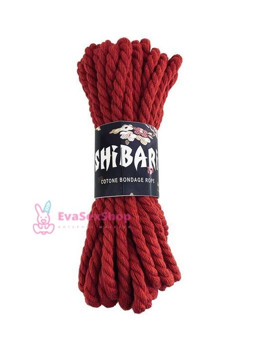 Хлопковая веревка для Шибари Feral Feelings Shibari Rope 8 м красная