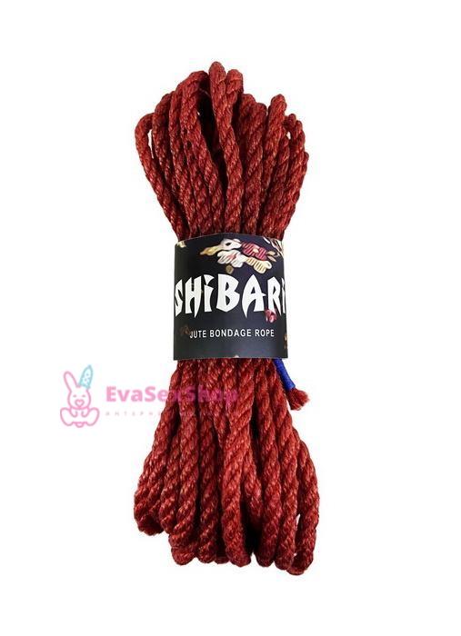 Джутовая веревка для Шибари Feral Feelings Shibari Rope 8 м красная