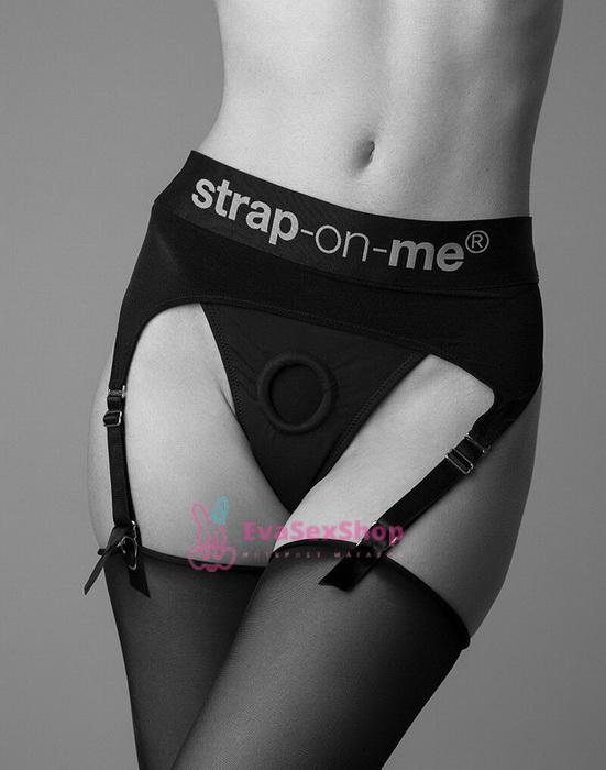 Трусы для страпона с подвязками для чулок Strap-On-Me Rebel Harness XL